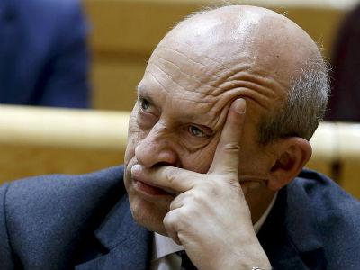 El ministro de Educación, José Ignacio Wert, en el Senado. EFE