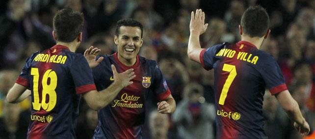 Jugadores del Barça celebran una victoria.