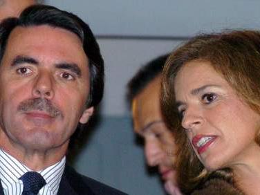 José María Aznar, ex presidente del Gobierno, y Ana Botella, alcaldesa de Madrid. EFE