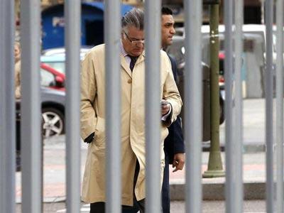 Luís Bárcenas entrando a los juzgados