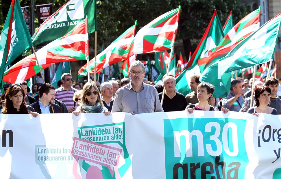 Los trabajadores del País Vasco también salen a la calle. EFE