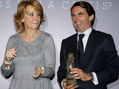Aznar, con Aguirre, en una imagen de 2010.