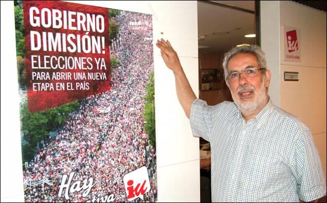 El secretario de Economía y Empleo de IU, José Antonio García Rubio.- MARIANO ASENJO