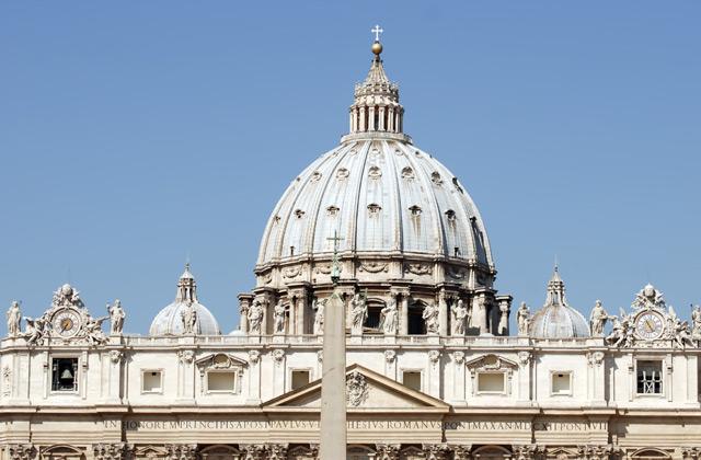 La cúpula de la basílica de San Pedro, en la ciudad del Vaticano.