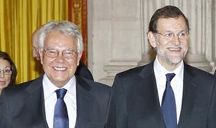 Rajoy se reunió con Felipe González el mismo día de<br> la entrevista a Aznar