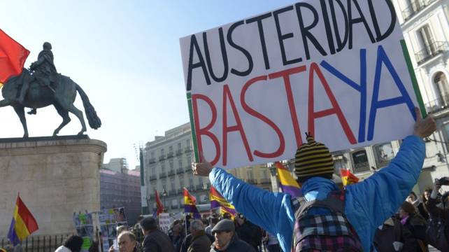 La última manifestación de la Marea Ciudadana el 23-F.