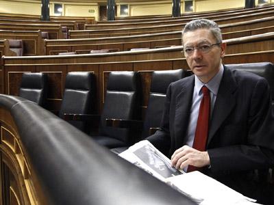 Alberto Ruiz-Gallardón en el Congreso de los Diputados/Efe