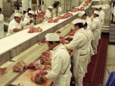 Cadena de producción de la una fábrica de Campofrío. -EFE