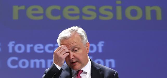Olli Rehn fue el eencargado de presentar las previsiones de primavera de la Comisión Europea.