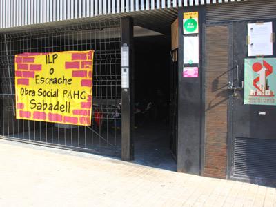 Viviendas vacías ocupadas por la PAH en Sabadell. FOTO: IVÁN BARRIOS