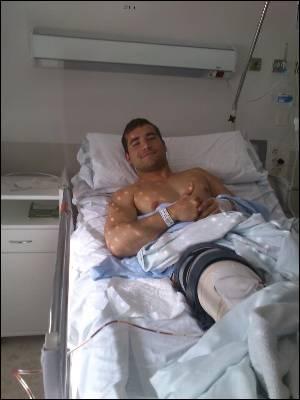 Adrian García, afectado por el copago ortopédico.