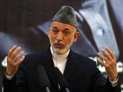 Hamid Karzai, presidente de Afganistán.-