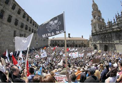 Protesta contra los megaproyectos mineros. EFE