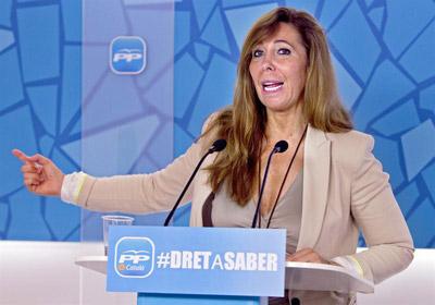 La presidenta del PPC, Alícia Sánchez-Camacho.