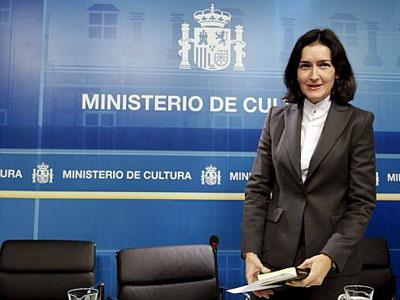 La exministra de Cultura, Ángeles González Sinde.
