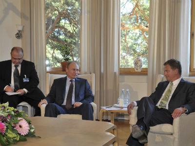 Vladimir Putin, durante una reunión que ha mantenido este martes con Sauli Niinisto, presidente de Finlandia. -REUTERS