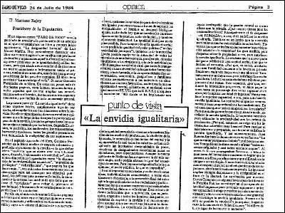 Artículo de Rajoy en 'El Faro de Vigo'.