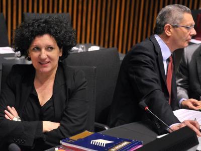 Gallardón con su homóloga belga en el Consejo de Justicia de la UE en Luxemburgo, este jueves/Efe