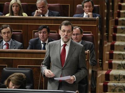 Mariano Rajoy, en el Congreso. Detrás suyo, a la derecha, Alfonso Alonso/Efe