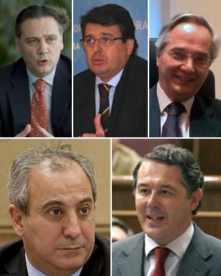 Alfredo Prada, Juan José Matarí, Pedro Gómez de la Serna, Juan Carlos Vera y José María Michavila.