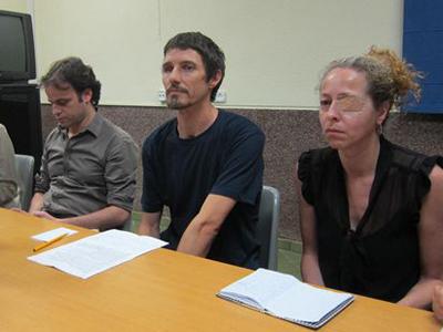 Cales Guillot junto a Ester Quintana durante la rueda de prensa de este miércoles.