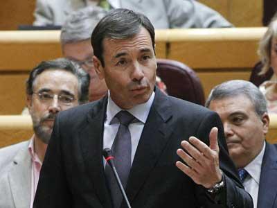 El líder del PSM Tomás Gómez en el Senado el 9 de julio de 2013. EFE/Ballesteros