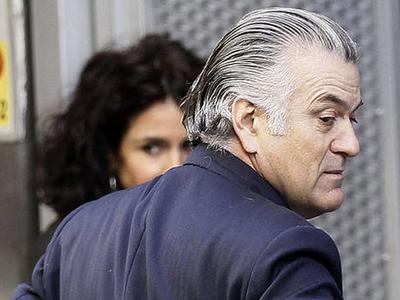 El extesorero del PP, Luis Bárcenas a su salida de la Audiencia Nacional.