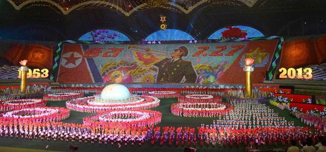 Primera función del festival de masas Arirang, en Pyongyang, 22 de junio de 2013. REUTERS/Kyodo