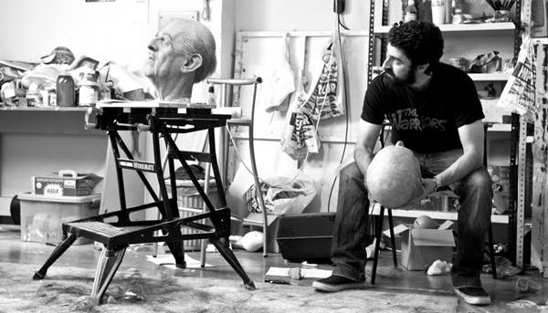 Eugenio Merino en su estudio. JUAN BARTE