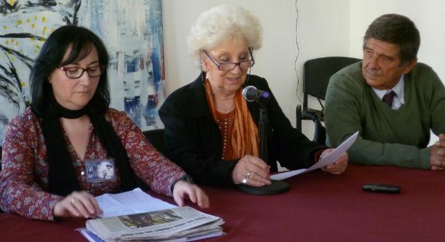 Estela de Carlotto, Taty Almeida y Carlos Slepoy. -AD