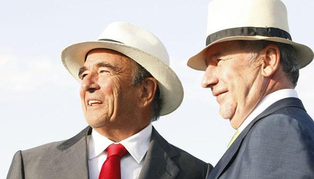 Emilio Botín y Rodrigo Rato, en la Jornada Mundial de la Juventud de Madrid, en agosto de 2011.