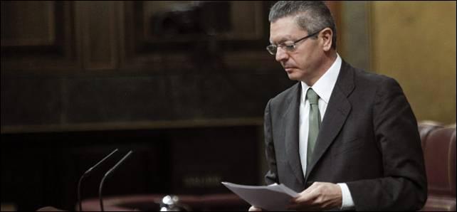 El ministro de Justicia, Alberto Ruiz Gallardón.- EFE