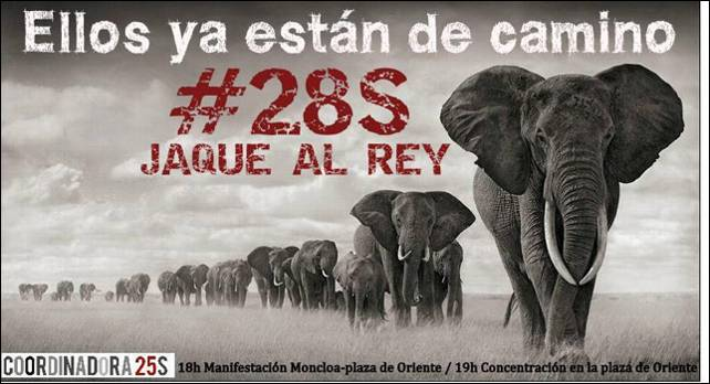 Cartel de la convocatoria Jaque al rey