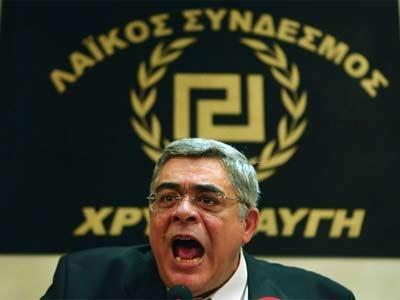 El líder del partido neonazi griego Amanecer Dorado, Nikos Michaloliakos. EFE