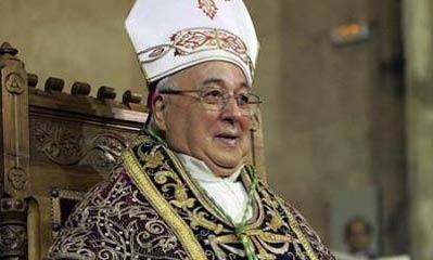 Ángel Rubio, obispo de Segovia.