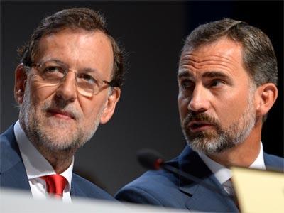 Rajoy y el príncipe Felipe, durante la exposición de la candidatura de Madrid 2020. REUTERS/Fabrice Coffrini