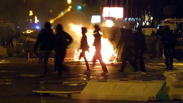 Barricada en calle Vitoria.