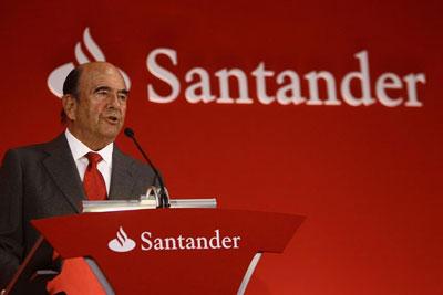 Emilio Botín, presidente del grupo Santander.