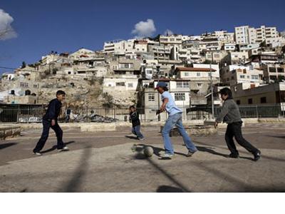 Foto de archivo de niños palestinos en Jerusalén. REUTERS