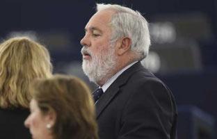 Manifestación de eurodiputadospara <br>que Cañete no sea comisario de Energía