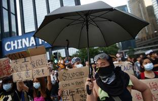 """El líder de las protestas en Hong Kong: """"Queremos el derecho al voto"""""""