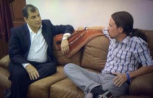 Pablo Iglesias se reúne con Correa en Ecuador