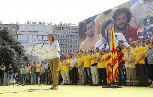 La manifestación de Plaza Catalunya, en imágenes
