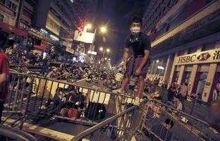 """Hong Kong acusa a """"fuerzas extranjeras"""" de alentar el movimientodemocrático"""