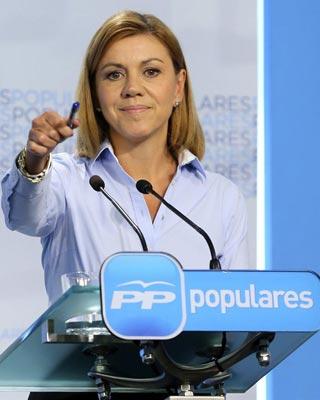 La secretaria general del PP, María Dolores Cospedal.