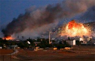 Turquía ayuda a los <br>kurdos a combatir al EI