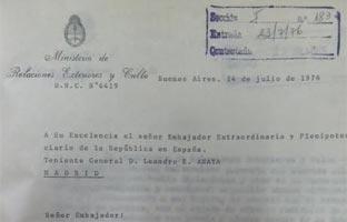Los documentos secretos que prueban el cruce de condecoraciones y apoyos al régimen argentino