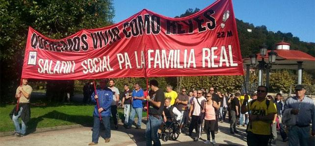 Concentración de 'Somos Reales' en Langreo el pasado 18 de octubre