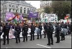 La Policía bloquea la protesta de las Marchas de la Dignidad en los Príncipe de Asturias