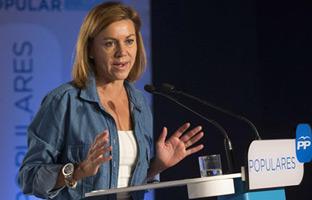 """Cospedal: """"El<br> PP trabajasin descanso contra<br> la corrupción"""""""